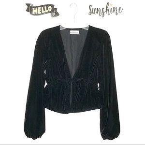 Urban Outfitters Black Velvet Jacket